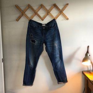 Madewell Distressed Slim Boy Jean